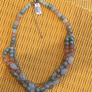 Chico's Additions bead necklace new